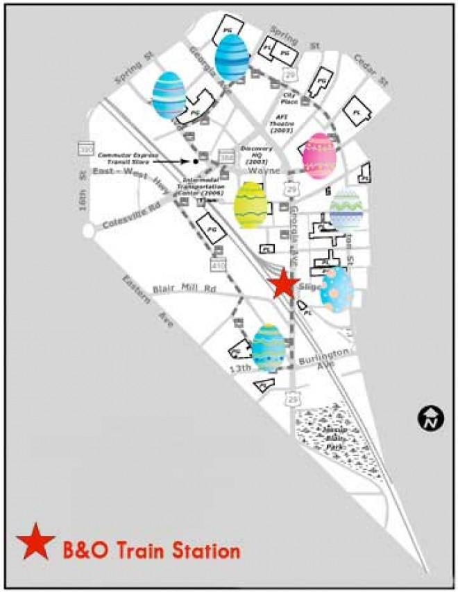 Easter Egg Hunt Map